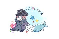 Future dreams ...  Drawn by JUSTIS ... Free! - Iwatobi Swim Club, haruka nanase, haru nanase, haru, free!, iwatobi, rin matsuoka, matsuoka, rin, nanase, cop, police, merman