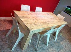 Table à manger en palette look industriel