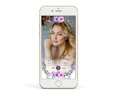 Lavender QUINCEANERA Snapchat Geofilter, Lilac Flowers Filter, Floral Quinceanera Snap chat Filter, 15th 16th Birthday Geofilter