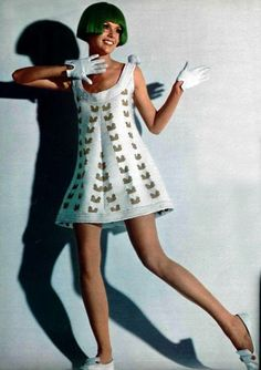 Fashion by Andre Courrèges, 1969. More