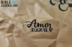 """""""Amen Dazu"""" Stempel aus unserem Shop für dein Bible Art Journaling ©bibleartjournaling.de"""