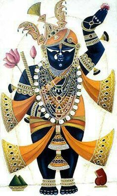 Sreenath ji... Shrinathji Krishna Leela, Jai Shree Krishna, Radha Krishna Love, Lord Krishna, Pichwai Paintings, Indian Paintings, Krishna Painting, Madhubani Painting, Hindu Deities
