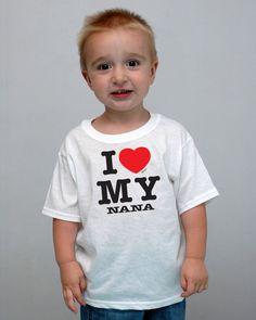 toddler  I love my nana T-shirt.