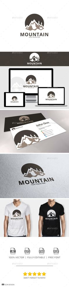 Mountain - Logo Design Template Vector #logotype Download it here: http://graphicriver.net/item/mountain-logo/10425951?s_rank=1240?ref=nexion