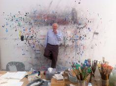 Ellsworth Kelly in his studio, 2012.  Photo by James Tarmy