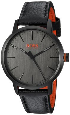 2e3824df54e4 HUGO BOSS Men s  Copenhagen  Quartz Stainless Steel and Leather Casual  Watch