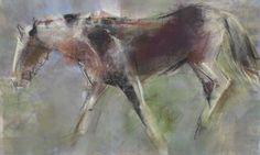 """Southerly vento"" 15 ""hx 22"" w Monotype com pastel  by Dawn Emerson"