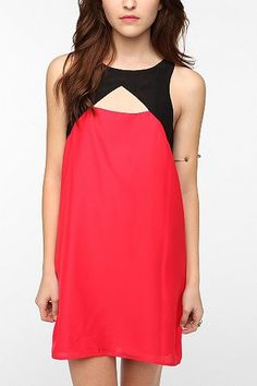 Silence & Noise Silky Harness Shift Dress from Urban Outfitters