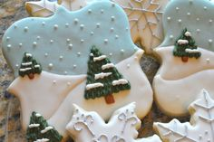 Love this winter cookie scene - I better be able to buy cookies that look like this cause I have no time to make them!