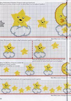 Patron de estrella en punto de cruz punto de cruz - Esquema punto estrella crochet ...