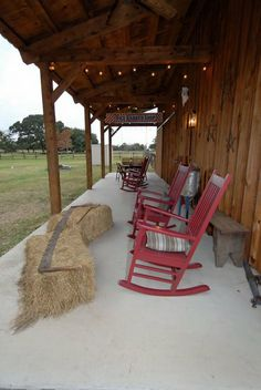 Front porch sitting - watch sunsets from this barn home porch! www.sandcreekpostandbeam.com https://www.facebook.com/SandCreekPostandBeam