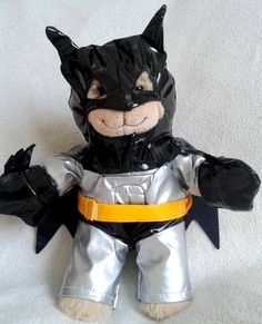 "Adorable 8"" Batman Outfit for 8"" small little bear - Your bear will be ready to save the day from the evil villians wearing this outfit!"