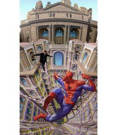 3D Spiderman Street Art