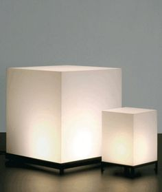 design resin floor lamp BIG STAR CUBE by Maurizio Peregalli ZEUS