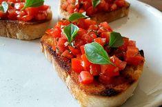 Na Itália se fala: Ricetta tradizionale Bruschetta, aqui no Brasil se pronuncia: Receita de Brusqueta Tradicional. Como Fazer Bruschetta Tradicional.