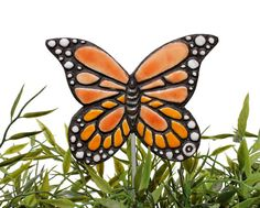 butterfly garden decor - plant stake - garden ornament - orange monarch butterfly via Etsy garden art This item is unavailable Butterfly Ornaments, Butterfly Art, Garden Ornaments, Monarch Butterfly, Butterflies, Garden Drawing, Garden Art, Garden Design, Glass Garden