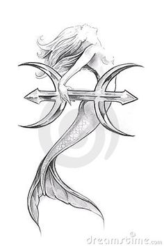 Google Image Result for http://www.dreamstime.com/tattoo-art-sketch-of-a-mermaid-pisces-thumb17102739.jpg