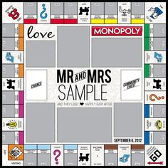 1000 images about monopoly game templates on pinterest for Custom monopoly board template