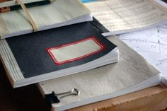 diy project: recycled scrap paper notebooks (Book binding)  - #binding #bookbinding #diy