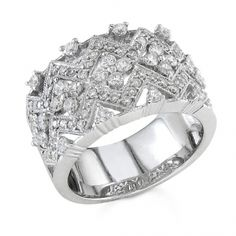 BF1335 - #23134  18 k diamond ring 1.16 ct. rounds (call for pricing)