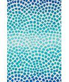 RugStudio presents Loloi Cassidy CD-09 Aqua / Blue Machine Woven, Good Quality Area Rug