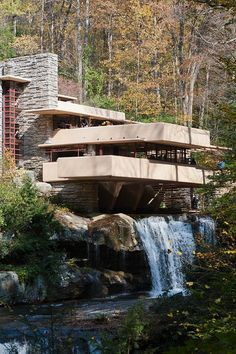 Fallingwater, Bear Run, PA - Frank Lloyd Wright.......would so love to visit this place