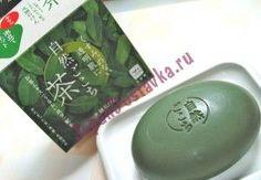 Туалетное увлажняющее мыло с гиалуроновой кислотой  Зеленый чай, Shizen Gokochi, COW BRAND 80 г