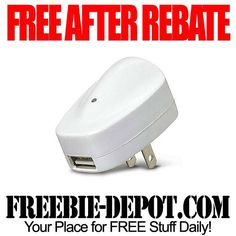 FREE AFTER REBATE – USB Power Adapter for iPhone - exp 3/31/13
