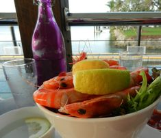 Tin Shed bucket of prawns Tin Shed, Chef Blog, Executive Chef, Chef Recipes, Places To Eat, Watermelon, Fruit, Bucket, Australia