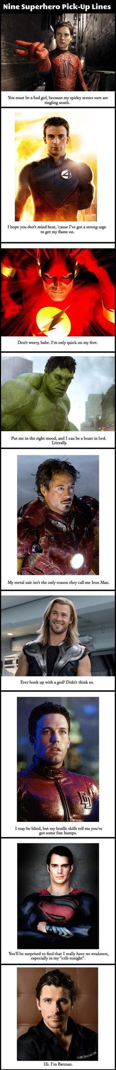 Funny Superhero Pick Up Lines – 9 Pics