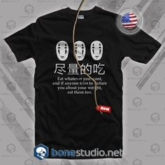 Spirited Away No Face T Shirt  Get This @ https://www.bonestudio.net/product-category/quote-tshirts/page/35/