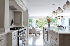 Re-investing in a kitchen is the most popular way that homeowners improve their existing properties, not only adding value but a new heart… Tom Howley Kitchens, Grey Kitchens, Luxury Kitchens, Home Kitchens, Warm Grey Kitchen, Rustic Kitchen, Kitchen Ideas, Apartment Kitchen, Kitchen Interior