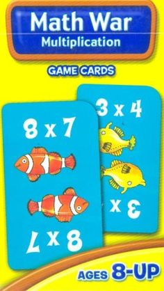 Math War Multiplication Game Cards: School Zone Publishing Company Staff: 0076645050328: Amazon.com: Books