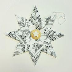 Enkel papirstjerne fremgangsmåte – HVA SKAL VI LAGE  Paperstar diy Origami, Cards, Christmas, Xmas, Origami Paper, Navidad, Maps, Noel, Playing Cards