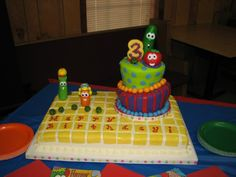 another veggie tales cake idea.