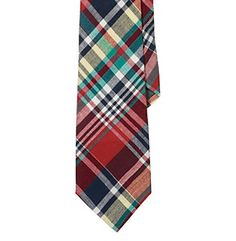 Product: Lauren® Men's Red Narrow Madras Tie