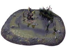 Terrain / scenery marsh for 40k whfb age of sigmar games #warhammer #ageofsigmar #aos #sigmar #wh #whfb #gw #gamesworkshop #wellofeternity #miniatures #wargaming #hobby #fantasy