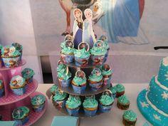 Cumple frozen - cupcakes