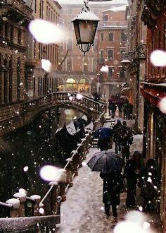 Venice, Italy in winter