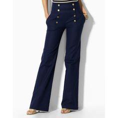 Lauren By Ralph Lauren Petites Fisher Wide-Leg Sailor Pants