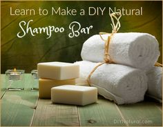 Homemade Shampoo Bar: Make Natural DIY Shampoo Bars - I created this homemade DIY shampoo bar because I get a lot of requests for a solid shampoo bar. Shampoo Bar Diy, Simple Shampoo, Solid Shampoo, Organic Shampoo, Natural Shampoo, Homemade Shampoo And Conditioner, Diy Hair Care, Homemade Cosmetics, Citronella