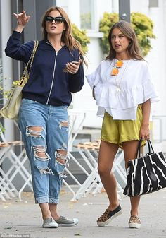 Jet-setters: Binky, Louise and the rest of the cast recently returned to London from Cannes after filming new spin-off Made in Chelsea: South of France in June