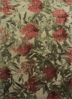 Browse the latest collection of floral designer rugs. Choose from a wide variety of wildflower rugs designs from Jenny Jones. Jenny Jones, Australian Wildflowers, Bottlebrush, Beautiful Wall, Unique Colors, Rug Making, Wall Tapestry, Contemporary Design, Wild Flowers