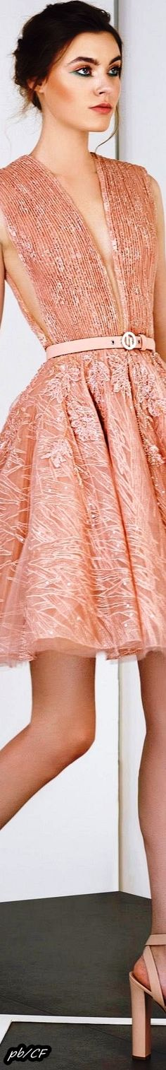 Tony Ward Spring-Summer 2019 RTW Pink Fashion, Couture Fashion, Rose Gold Pink, Tony Ward, Just Peachy, Love And Light, Pretty Dresses, Pretty In Pink, Short Dresses