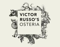 Victor Russo's Osteria: I like all the pieces to this identity. It shows a person/company with a lot going on, but pulled together.