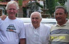 Jan Balder (o primeiro na foto, à esquerda, com Anísio Campos no centro e Marinho na extremidade direita)
