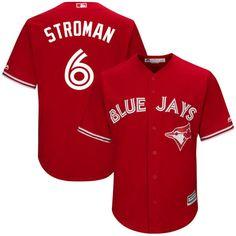 a3696bb54a2 MLB Men s Toronto Blue Jays Majestic Scarlet 2017 Cool Base Player Jersey  MLB  Mens Jersey