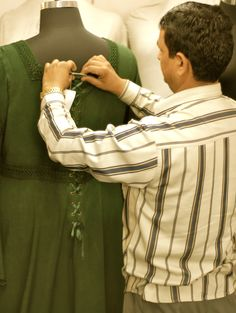 This Arwen Dress is almost ready for a lucky customer. At HolyClothing, we check each and every garment, from size Small to 5X on a dress form, to check that the fit is just right. It takes a little longer, but the results are worth the wait. http://www.holyclothing.com/