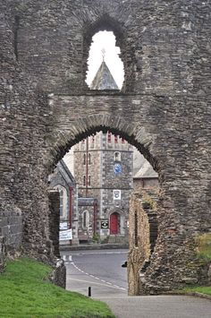 Through the castle gate Launceston, Cornwall