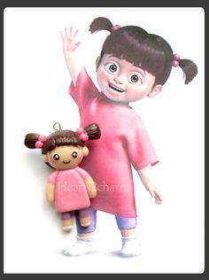 Disney's Pixar Monster's Inc. Boo Chibi Charm Miniature. Handmade Polymer Clay Boo from Monster's Inc. Charm. on Etsy, $13.00